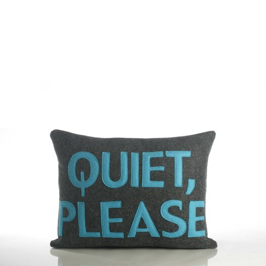 Alexandra Ferguson House Rules Quiet Please Throw Pillow