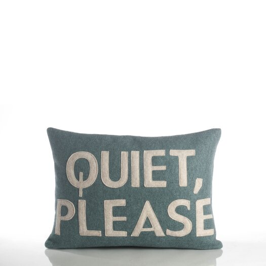 Alexandra Ferguson House Rules Quiet Please Throw Pillow
