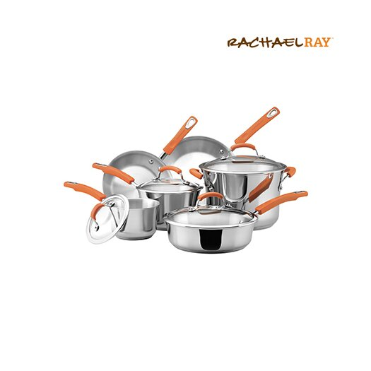 Rachael Ray Stainless Steel 10 Piece Cookware Set