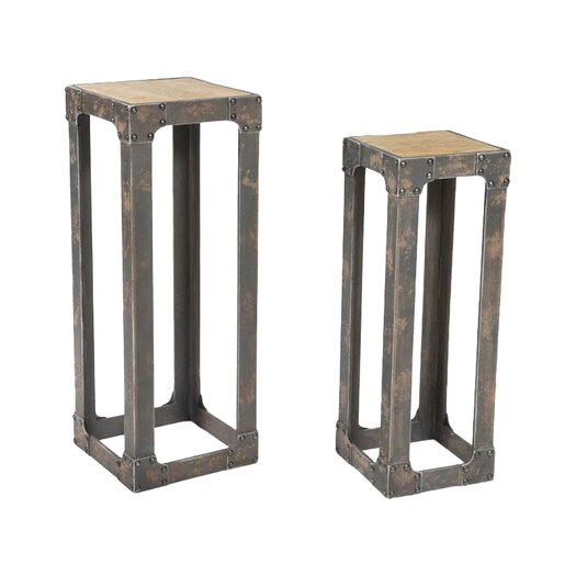 Moe's Home Collection 2 Piece Urbane Pedestal Plant Stand Set
