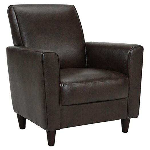 DHI Enzo Faux Leather Arm Chair