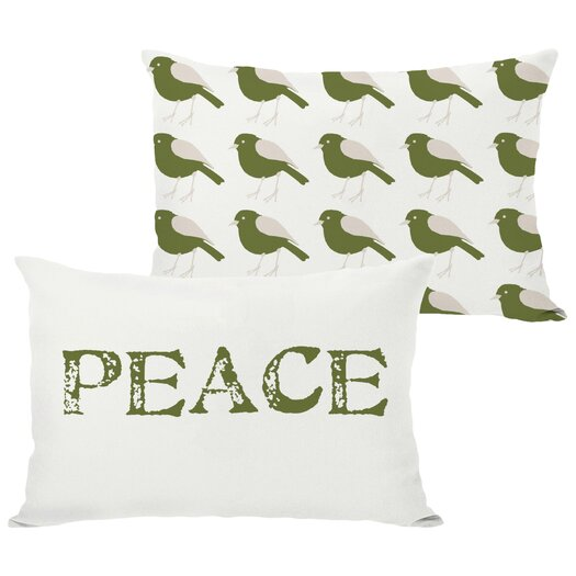 One Bella Casa Holiday Peace Reversible Lumbar Pillow
