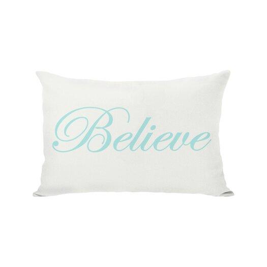 One Bella Casa Holiday Believe Reversible Lumbar Pillow