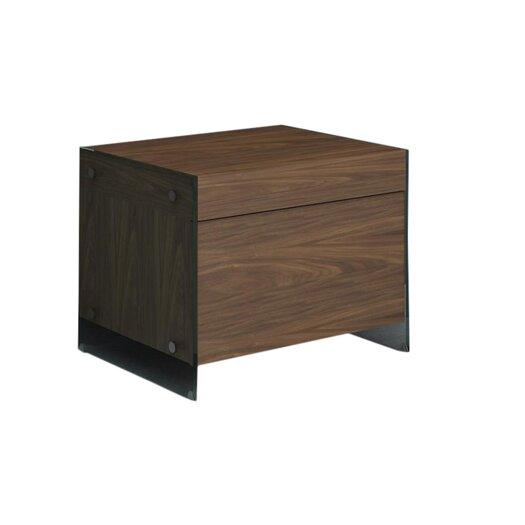 Casabianca Furniture II Vetro 1 Drawer Nightstand