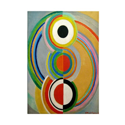 "iCanvas ""Rythme 1938"" by Sonia Delaunay Painting Print on Canvas"