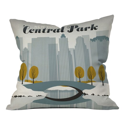 DENY Designs Anderson Design Group Central Park Snow Throw Pillow