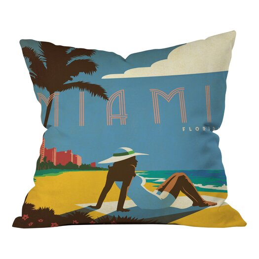 DENY Designs Anderson Design Group Miami Throw Pillow