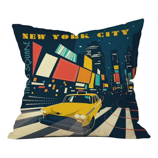 DENY Designs Anderson Design Group NYC Times Throw Pillow