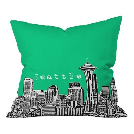 DENY Designs Bird Ave Seattle Throw Pillow