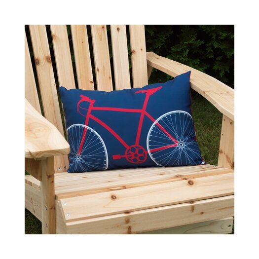 Checkerboard, Ltd Bicycle Outdoor Lumbar Pillow
