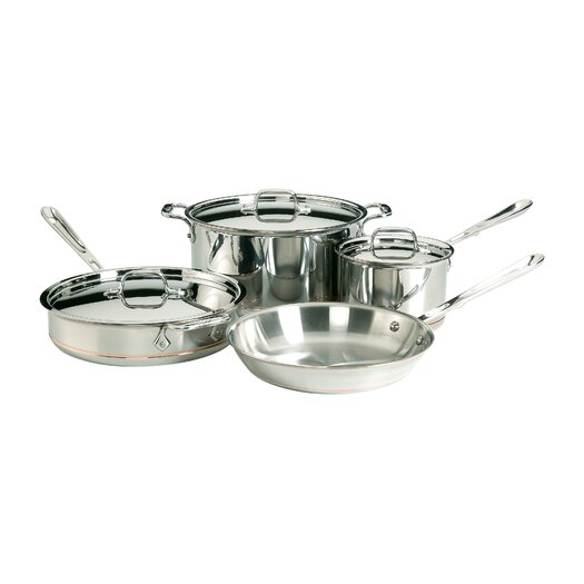 All-Clad Copper Core 7 Piece Cookware Set