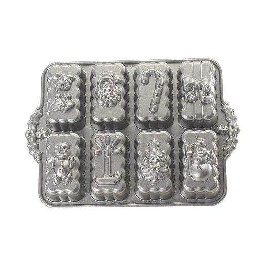 Nordic Ware Platinum Holiday Mini Loaves Cake Pan
