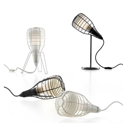 """Foscarini Diesel Cage Mic 17.16"""" H Table Lamp with Novelty Shade"""