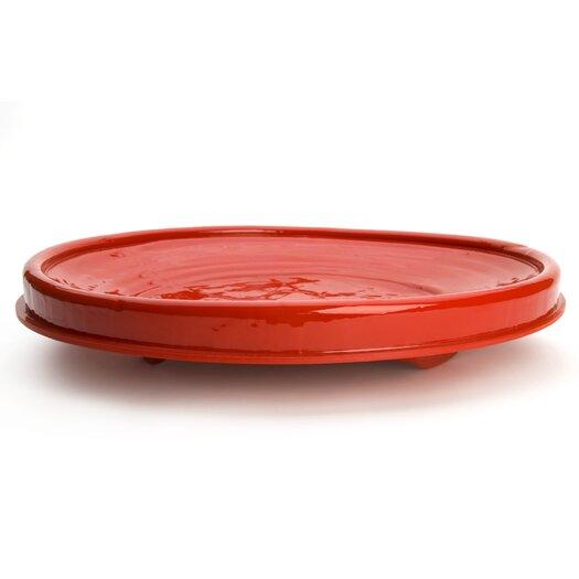 Droog Revisited Plate in Red by Bas Warmoeskerken for Droog