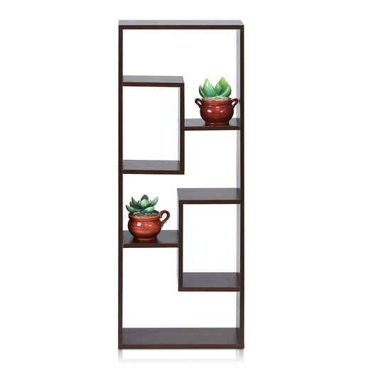 Furinno Boyate 4 Cube Wall Mounted Low Narrow Bookcase