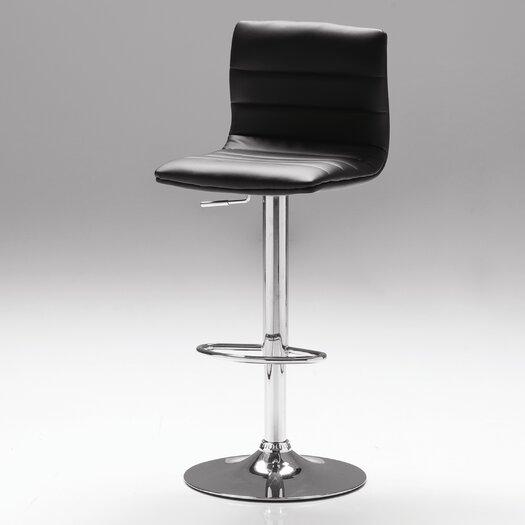 Pero Adjustable Height Swivel Bar Stool with Cushion