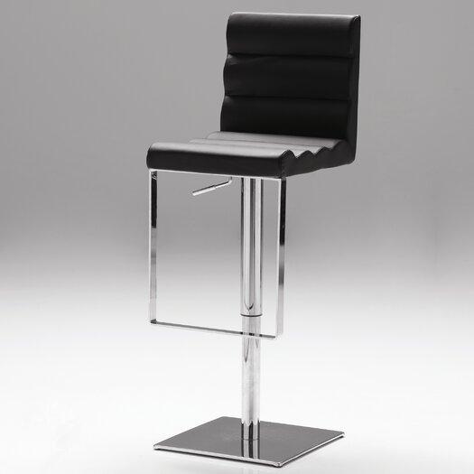Vola Adjustable Height Swivel Bar Stool with Cushion