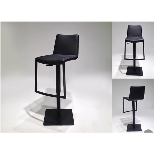 Raven Adjustable Height Swivel Bar Stool with Cushion