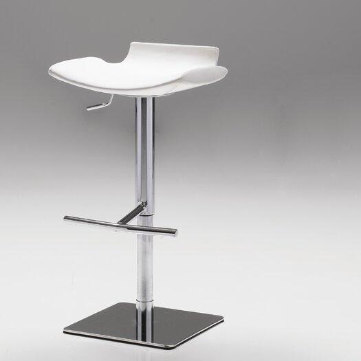 Senza Adjustable Height Bar Stool with Cushion