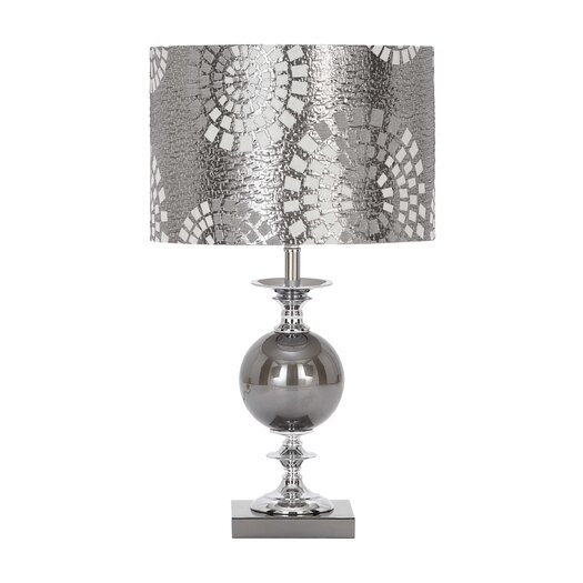 """Woodland Imports 22"""" H Table Lamp with Drum Shade"""