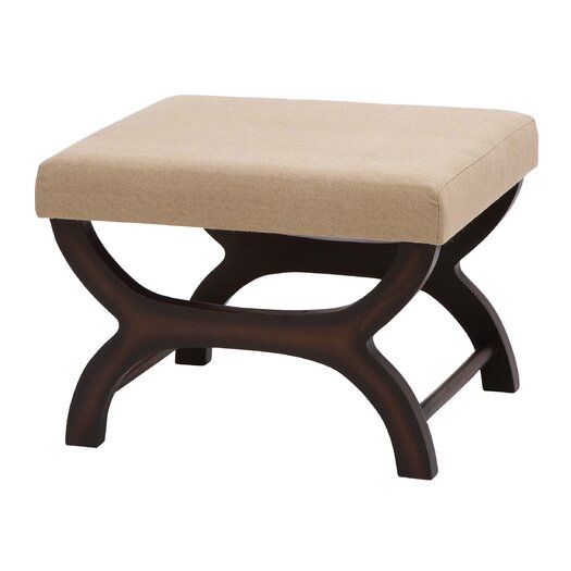 Woodland Imports Traditional and Modern Burlap Stool