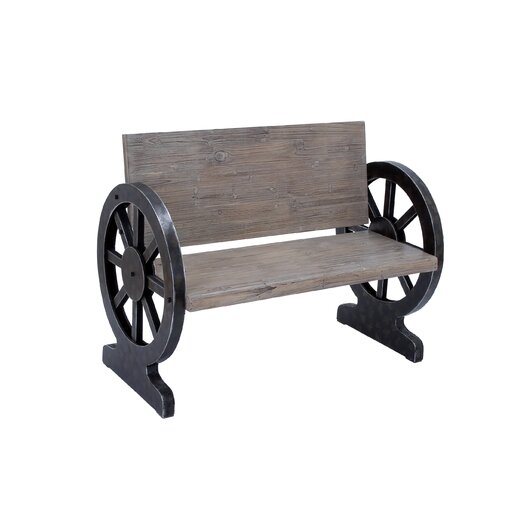 Woodland Imports Solid Wood Entryway Bench