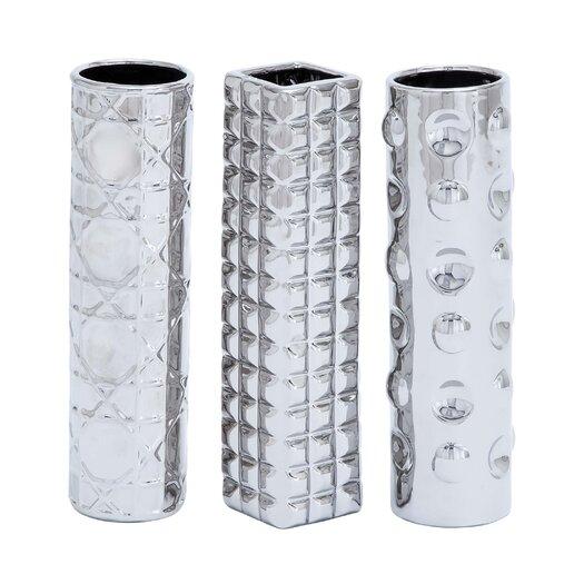 Woodland Imports Ceramic 3 Piece Vase Set