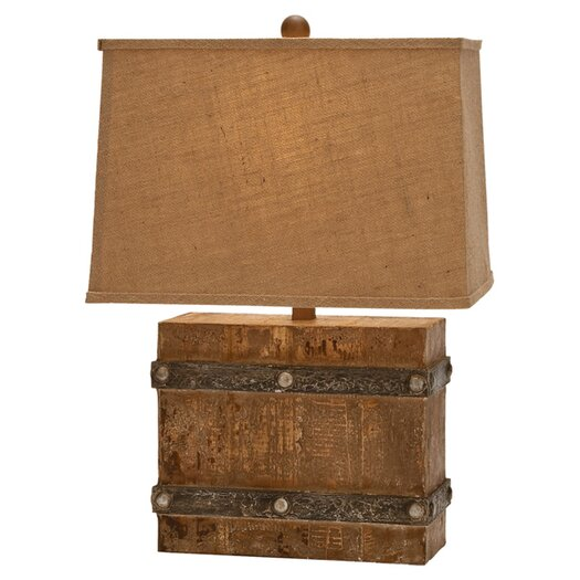 """Woodland Imports Modern Suave 23"""" H Table Lamp with Rectangular Shade"""