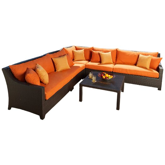 RST Brands Deco 6 Piece Deep Seating Group with Cushions