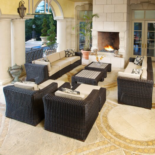 RST Brands Resort 12 Piece Deep Seating Group with Cushions