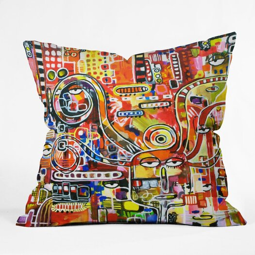 DENY Designs Robin Faye Gates It Came from Detroit Throw Pillow