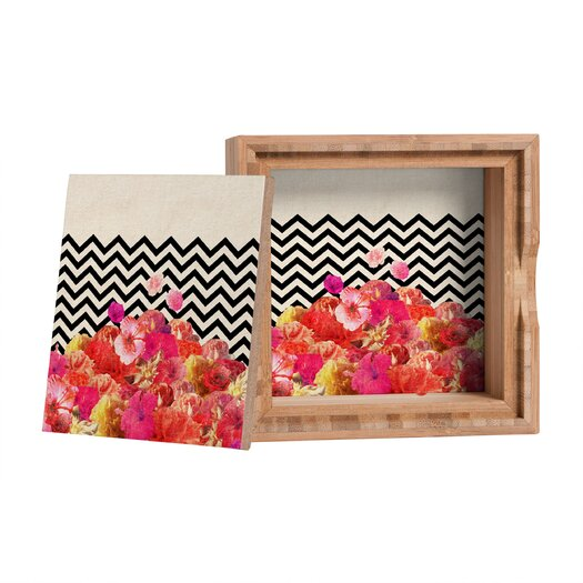DENY Designs Bianca Green Chevron Flora 2 Box