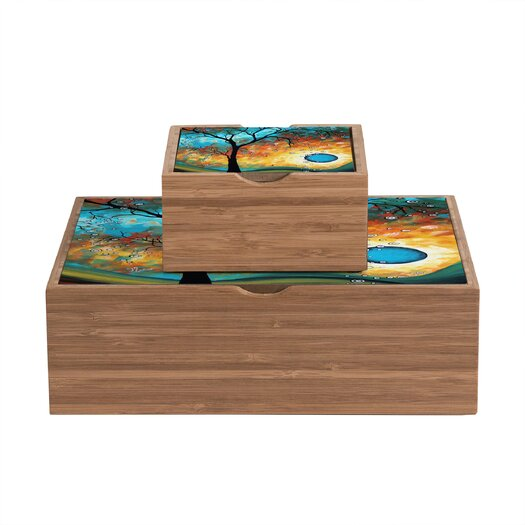 DENY Designs Madart Inc. Aqua Burn Storage Box