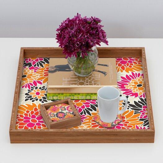 DENY Designs Andrea Victoria Summer Tango Floral Coaster