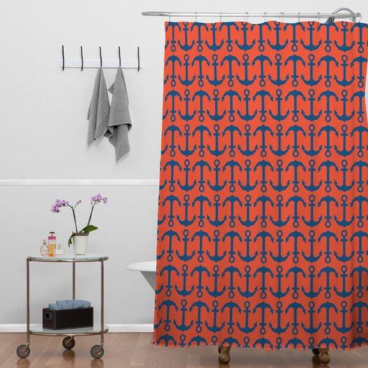 DENY Designs Andrea Victoria Anchors Ahoy Shower Curtain