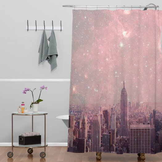 DENY Designs Bianca Green Covering Stardust New York Shower Curtain