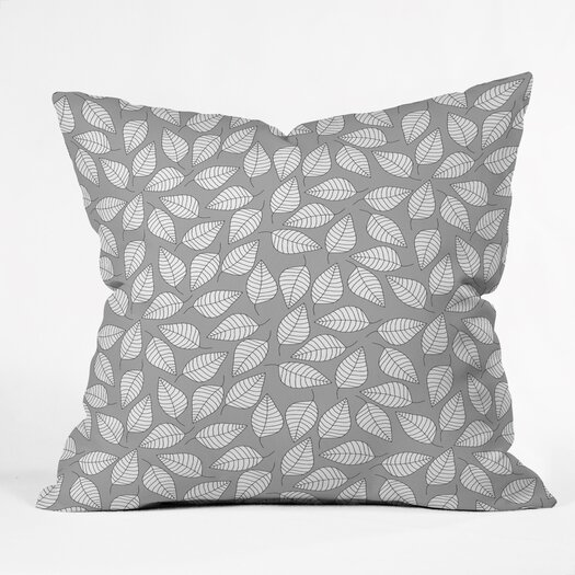 DENY Designs Bianca Green Leafy Indoor/Outdoor Throw Pillow