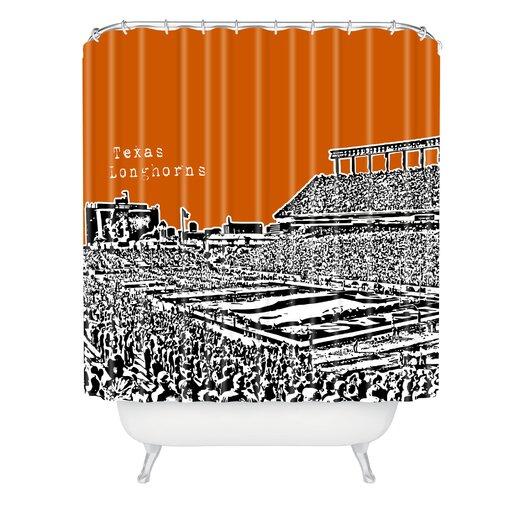 DENY Designs Bird Ave Texas Longhorns Shower Curtain