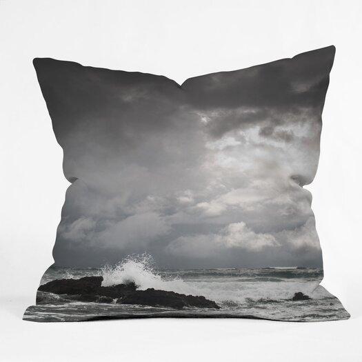 DENY Designs Bird Wanna Whistle Water Indoor/Outdoor Throw Pillow