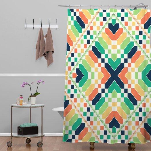 DENY Designs Budi Kwan Rainbow Retrographic Shower Curtain