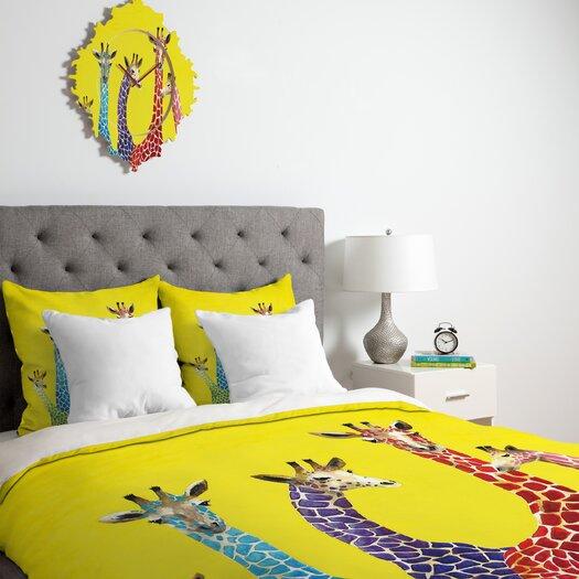 DENY Designs Clara Nilles Jellybean Giraffes Duvet Cover Collection