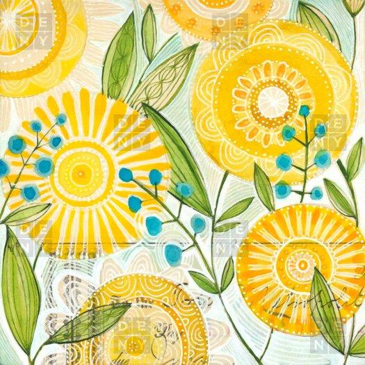 DENY Designs Cori Dantini Sun Burst Flowers Shower Curtain