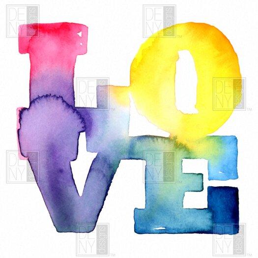DENY Designs CMYKaren Love 4 Shower Curtain