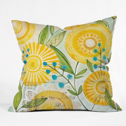 DENY Designs Cori Dantini Sun Burst Flowers Throw Pillow