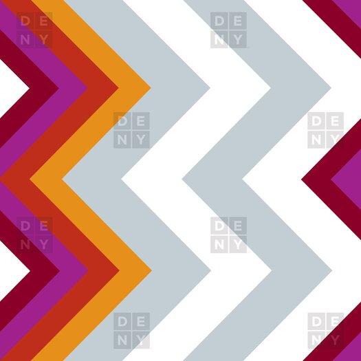 DENY Designs Karen Harris Modernity Solstice Warm Chevron Shower Curtain
