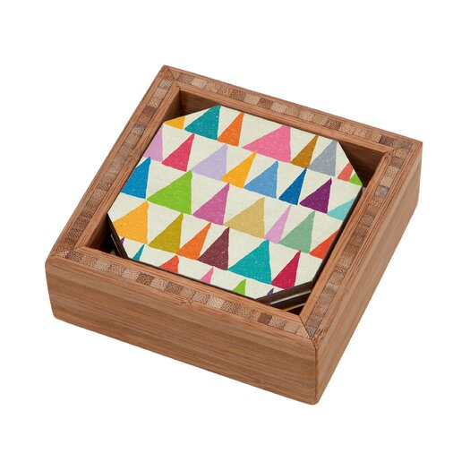 DENY Designs Nick Nelson Analogous Shapes in Bloom Coaster