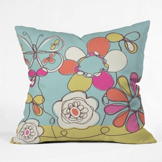 DENY Designs Rachael Taylor Fun Floral Throw Pillow