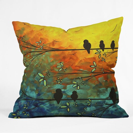 DENY Designs Madart Inc Birds of A Feather Indoor/Outdoor Throw Pillow