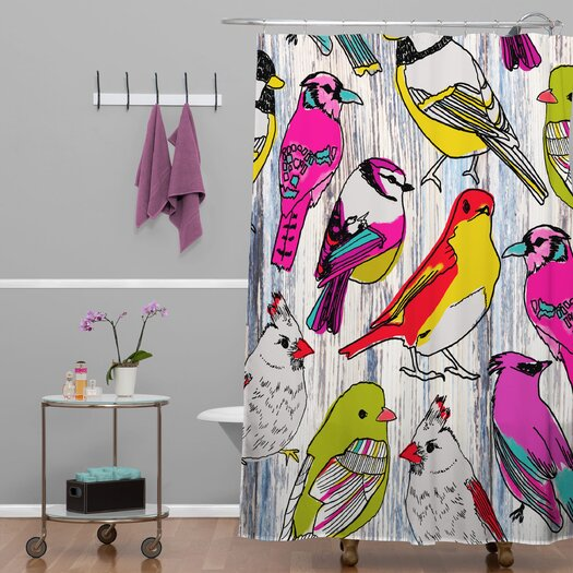 DENY Designs Mary Beth Freet Couture Home Birds Shower Curtain