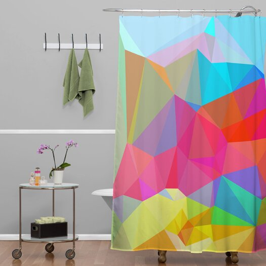 DENY Designs Three of the Possessed Crush Crystal Shower Curtain